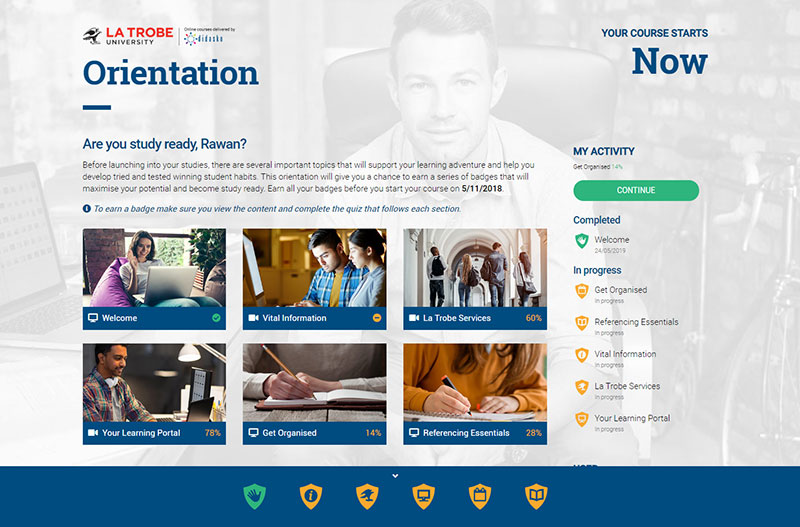 Oriention Portal homepage